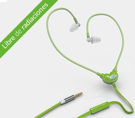 Auriculares libres de emisiones